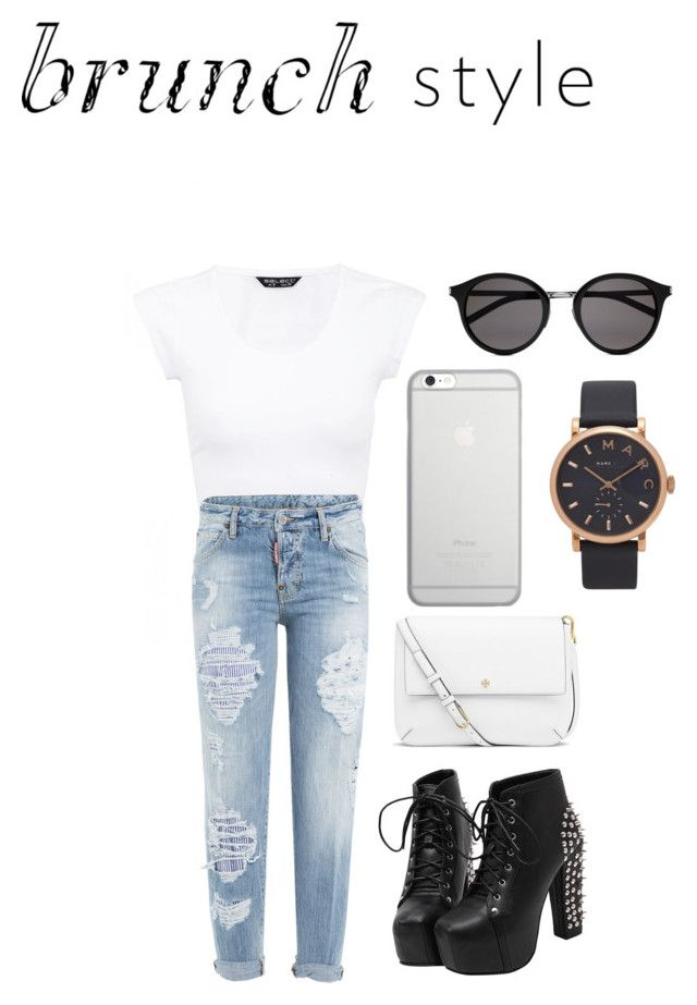 """""""Brunch Style"""" by harleenchahil ❤ liked on Polyvore featuring Dsquared2, Tory Burch, Native Union, Yves Saint Laurent, Marc Jacobs and contest"""