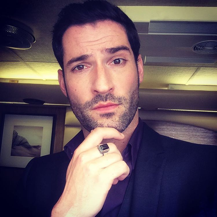 Just found this selfie from day 1 of filming on the pilot of #lucifer thank you all so much for your kind response to the show. Hopefully I can look less pensive now 😈