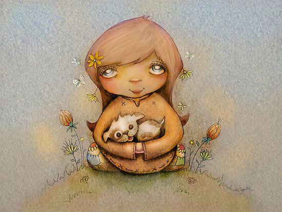 "puppy love"" by Karin Taylor | RedBubble | karin taylor artist"