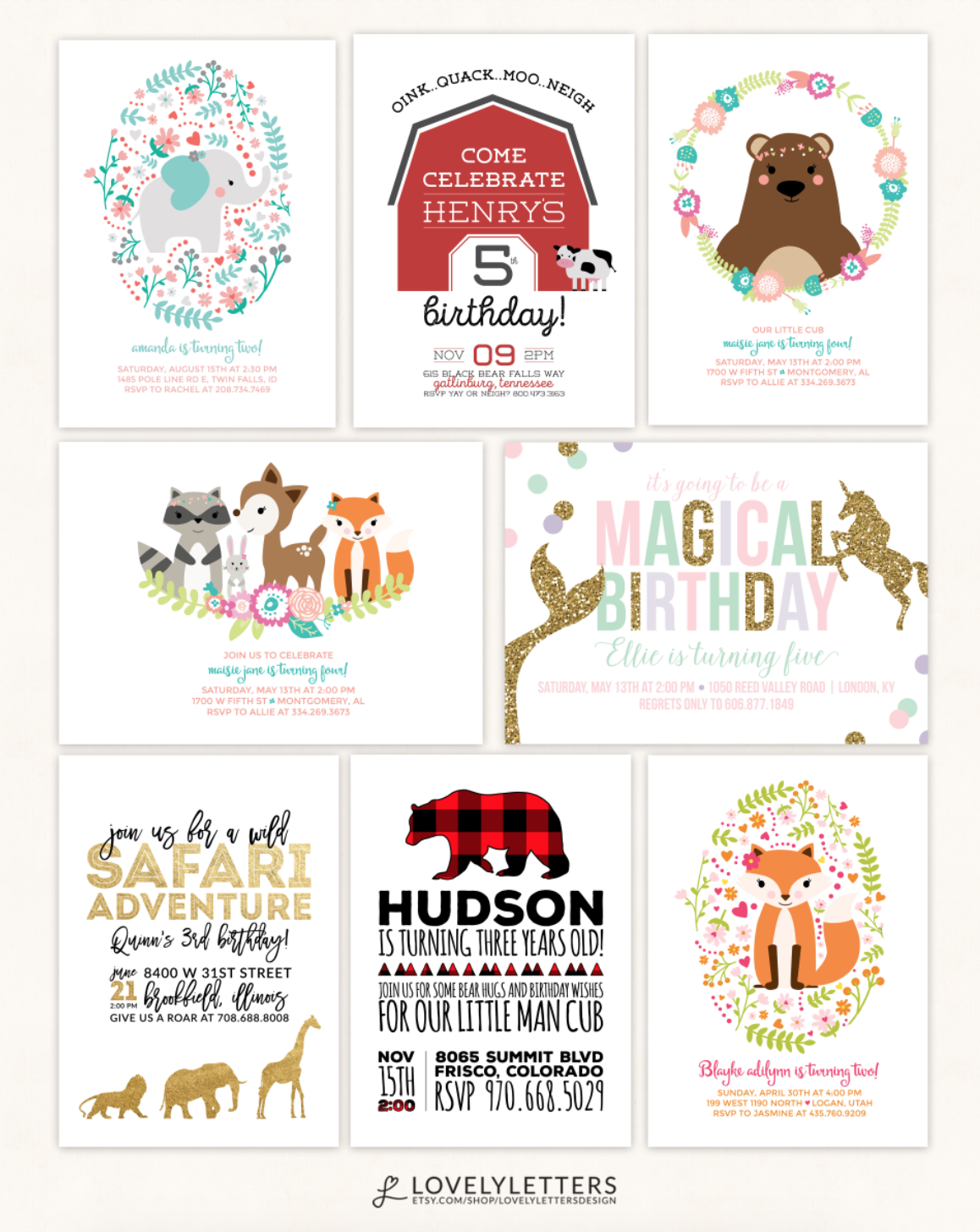 Animal birthday invitations animal party invitation animal animal birthday invitations animal party invitation animal birthday farm birthday zoo birthday stopboris Gallery