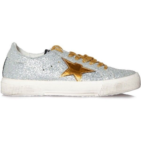 Golden Goose Sneakers May Mat Star ( 265) ❤ liked on Polyvore featuring  shoes 8aa84bc639