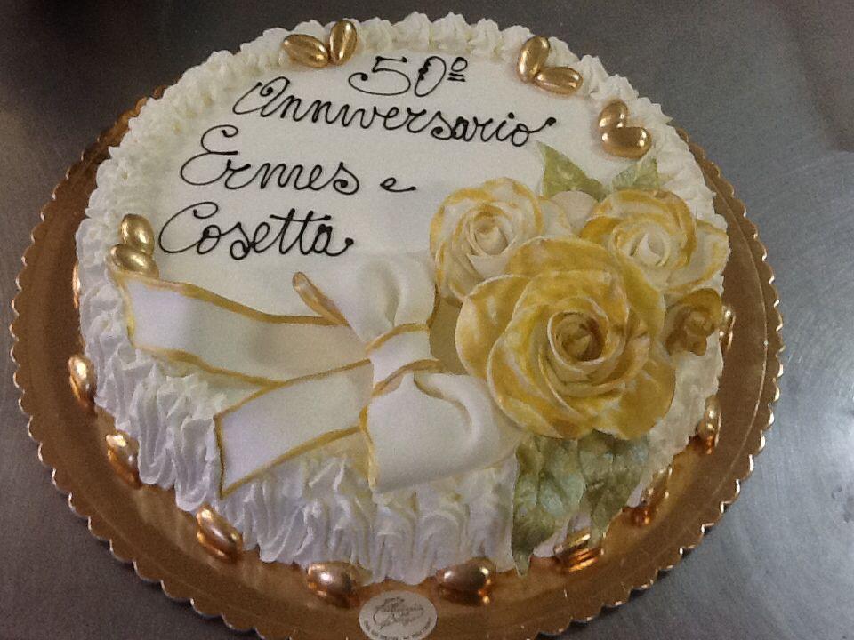 Oro Per 50 Anni Di Matrimonio Torte Nozze D Oro Nozze E Matrimonio