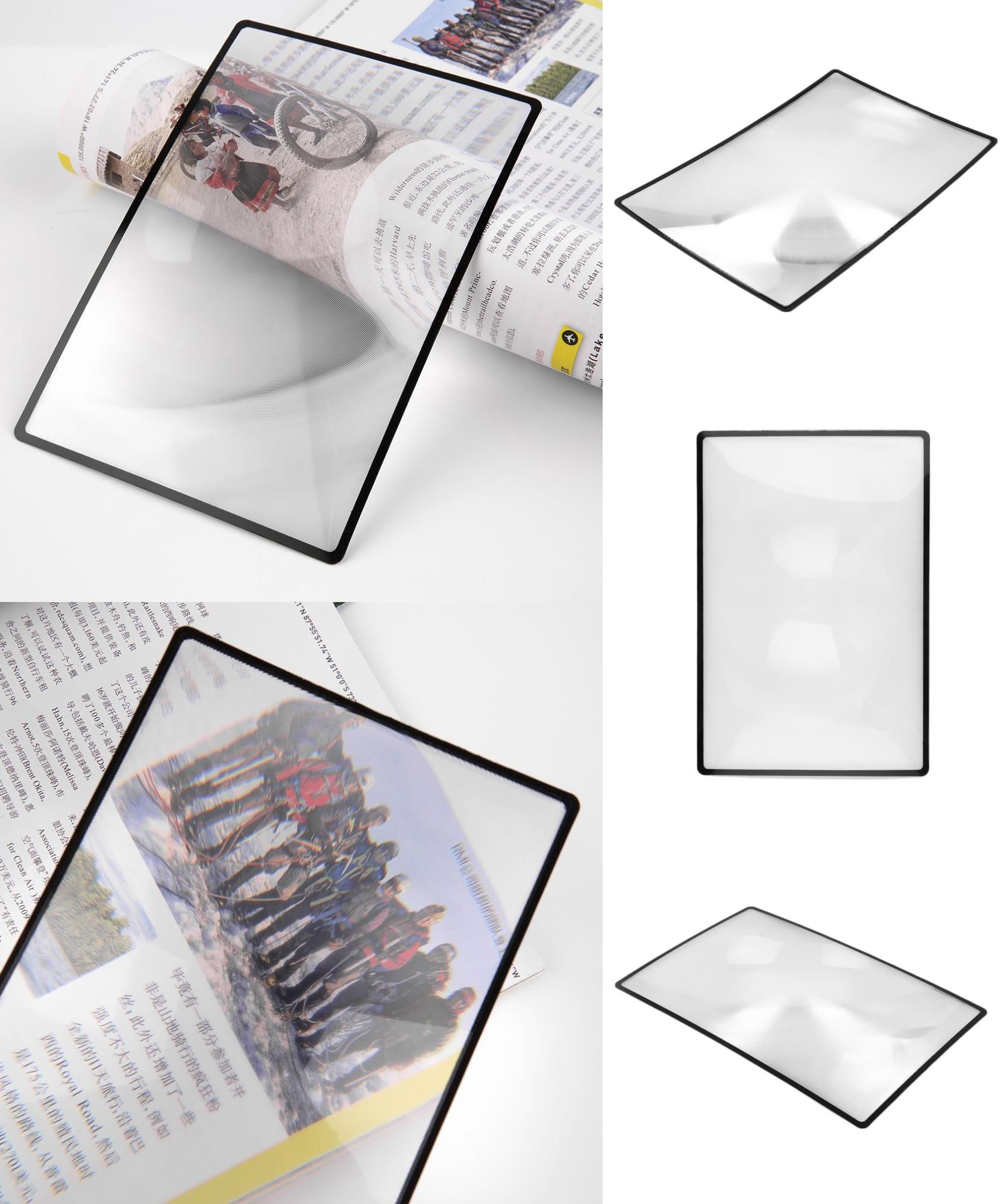 Visit To Buy 3x Top Quality Convinient Pvc Magnifier Sheet 180x120mm Book Page Magnifying Book Page Reading Glass Lens Mag Magnifier Book Pages Magnification