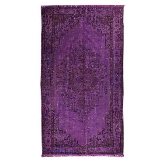 Over dyed Rug PURPLE Carpet 10x5 ft Purple Rug by TheOrientBazaar, $1079.70