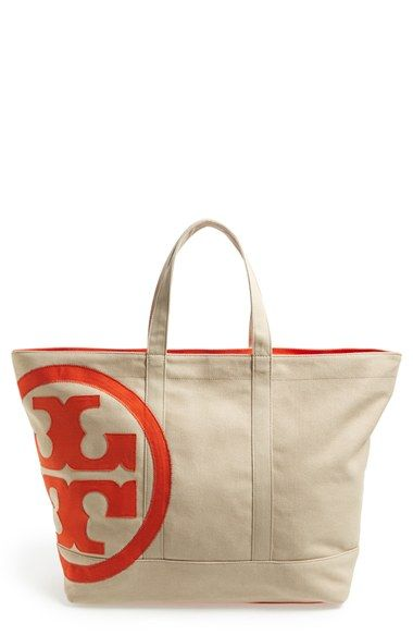 cf2ab5e9a28a Tory Burch  Beach  Logo Canvas Tote available at  Nordstrom
