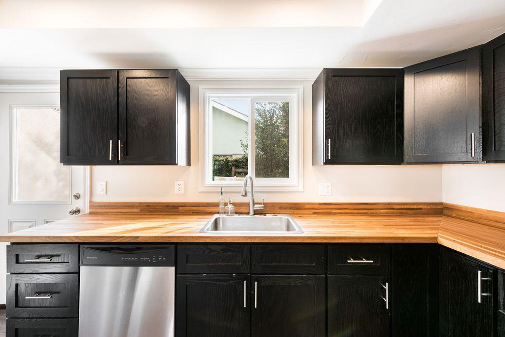 Contemporary Kitchen with Sherwin Williams SW 3135 New Ebony, Wood ...