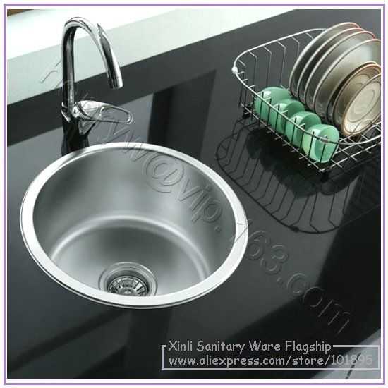 Retail - Luxury Stainless Steel Kitchen Sink, Round Shape Single ...