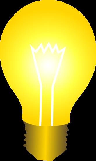 Bright Yellow Idea Light Bulb Free Clip Art Light Bulb Vector Light Bulb Clip Art