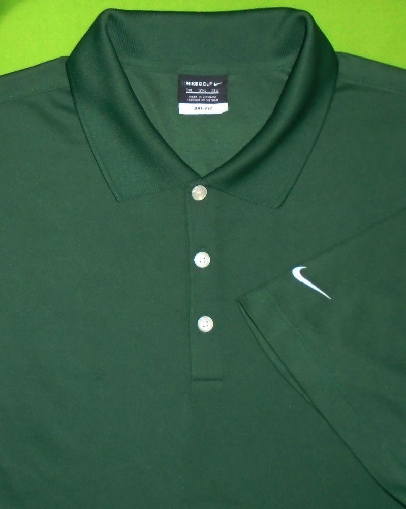 bdd042a8d Nike Golf Dri-Fit Wicking Fabric Shirt Green w Sponsor Logo S S Men size 3XL   NikeGolf  PoloRugby