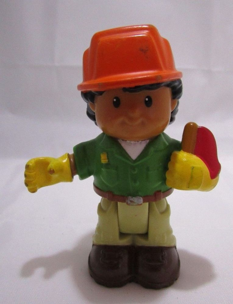 5dfbb3bbd Fisher Price Little People ROBERTO Latino Boy Construction Worker in Hard  Hat #FisherPrice