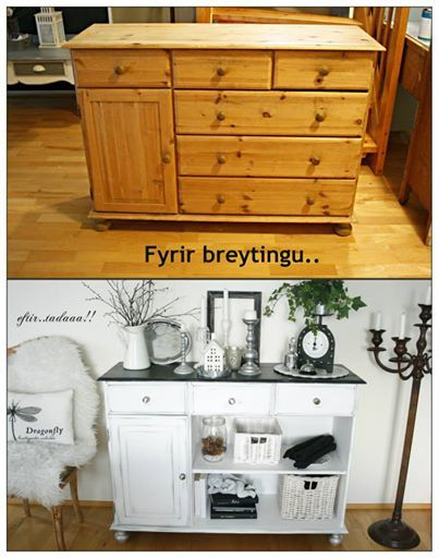 Before...and after! | DIY Indoors | Pinterest | Reciclado de muebles ...