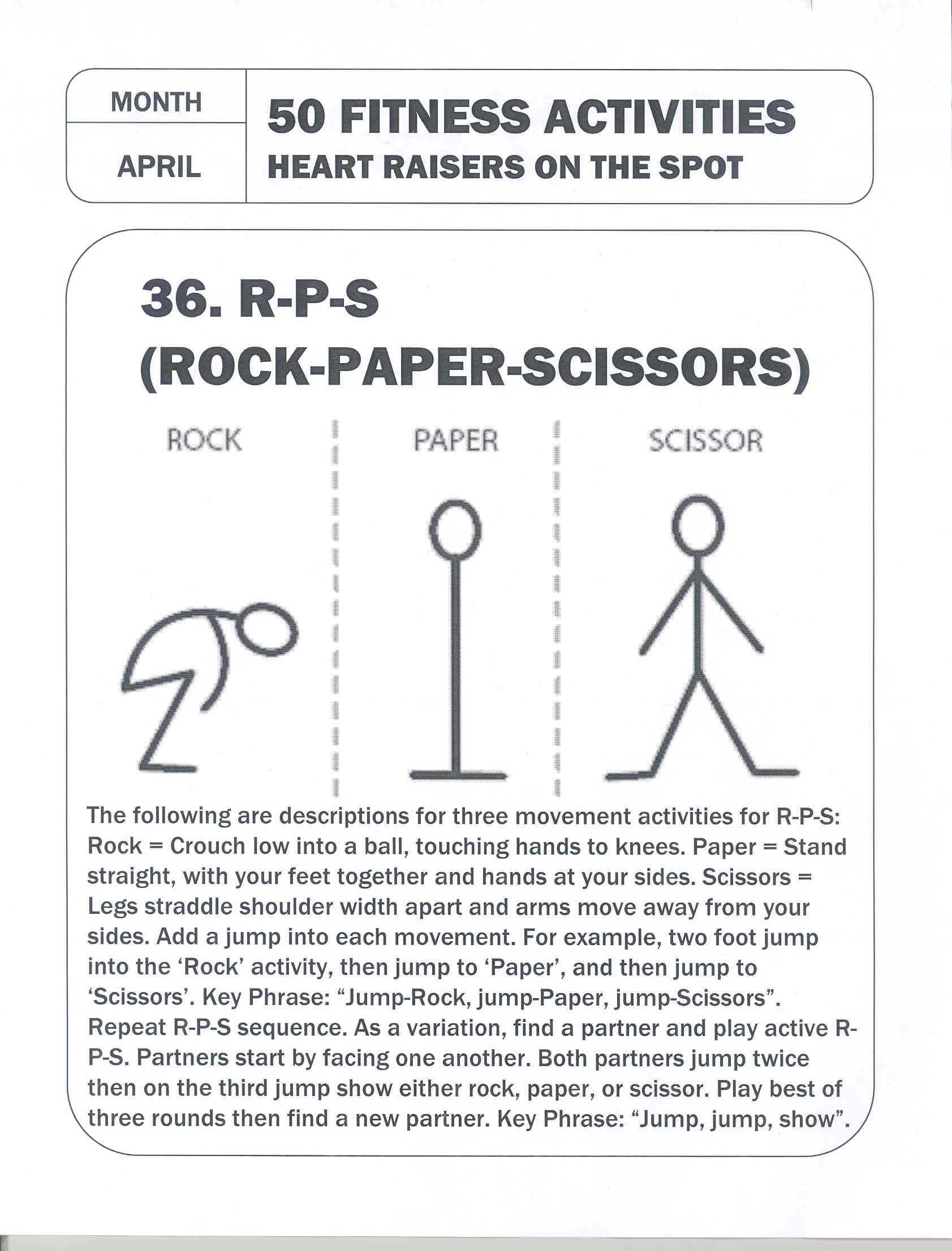 50 Fitness Activities Heart Raisers On The Spot
