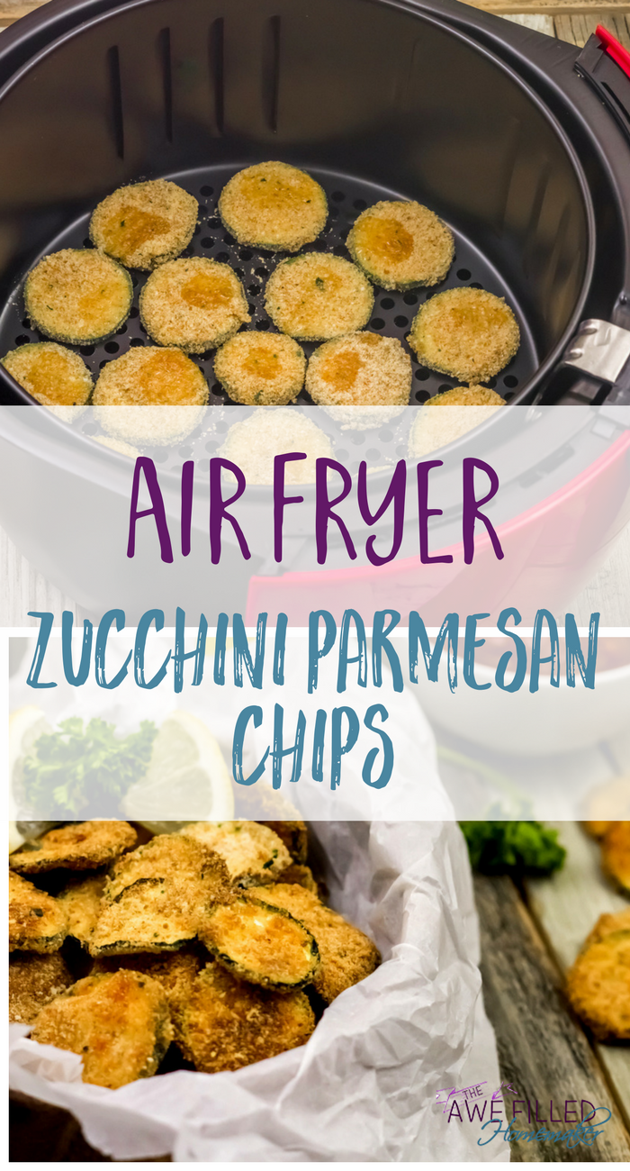 Air Fryer Zucchini Parmesan Chips #airfryerrecipes