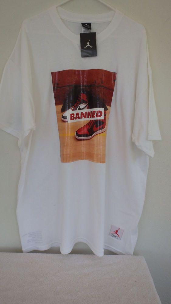a461014ae4aefc Nike Air Jordan 1 Old New Love Banned Shirt XXL Shirt White Flight ...