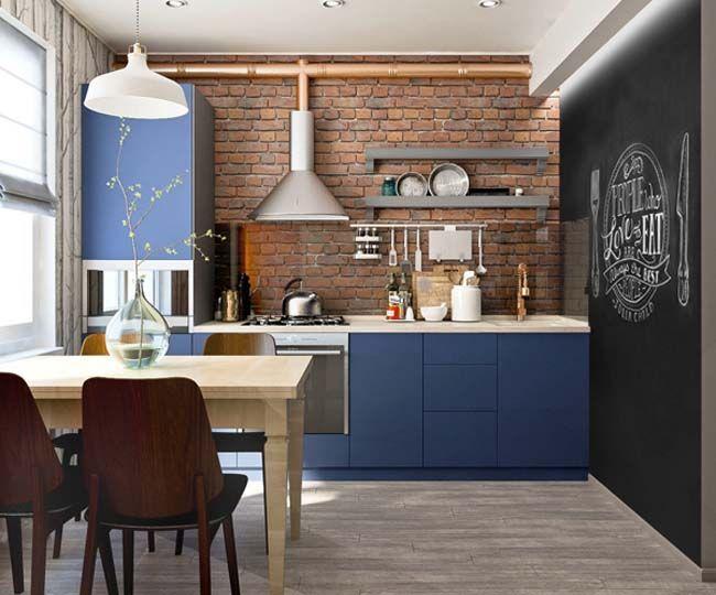 кухня в стиле лофт это открытое пространство сочетание грубой