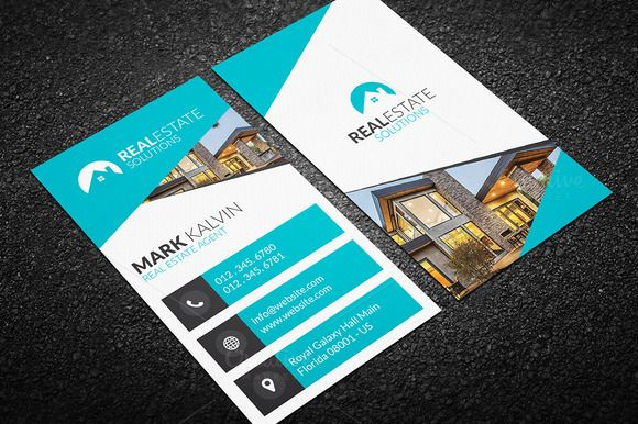 Real Estate Business Card 47 | Real estate business and Business cards