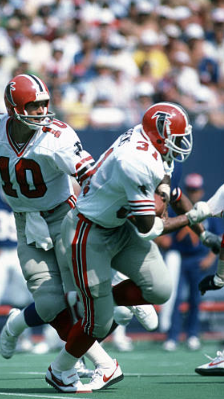 Pin By Jeff Sawyer On Football Past Present Falcons Football Nfl Football Players Nfl Uniforms