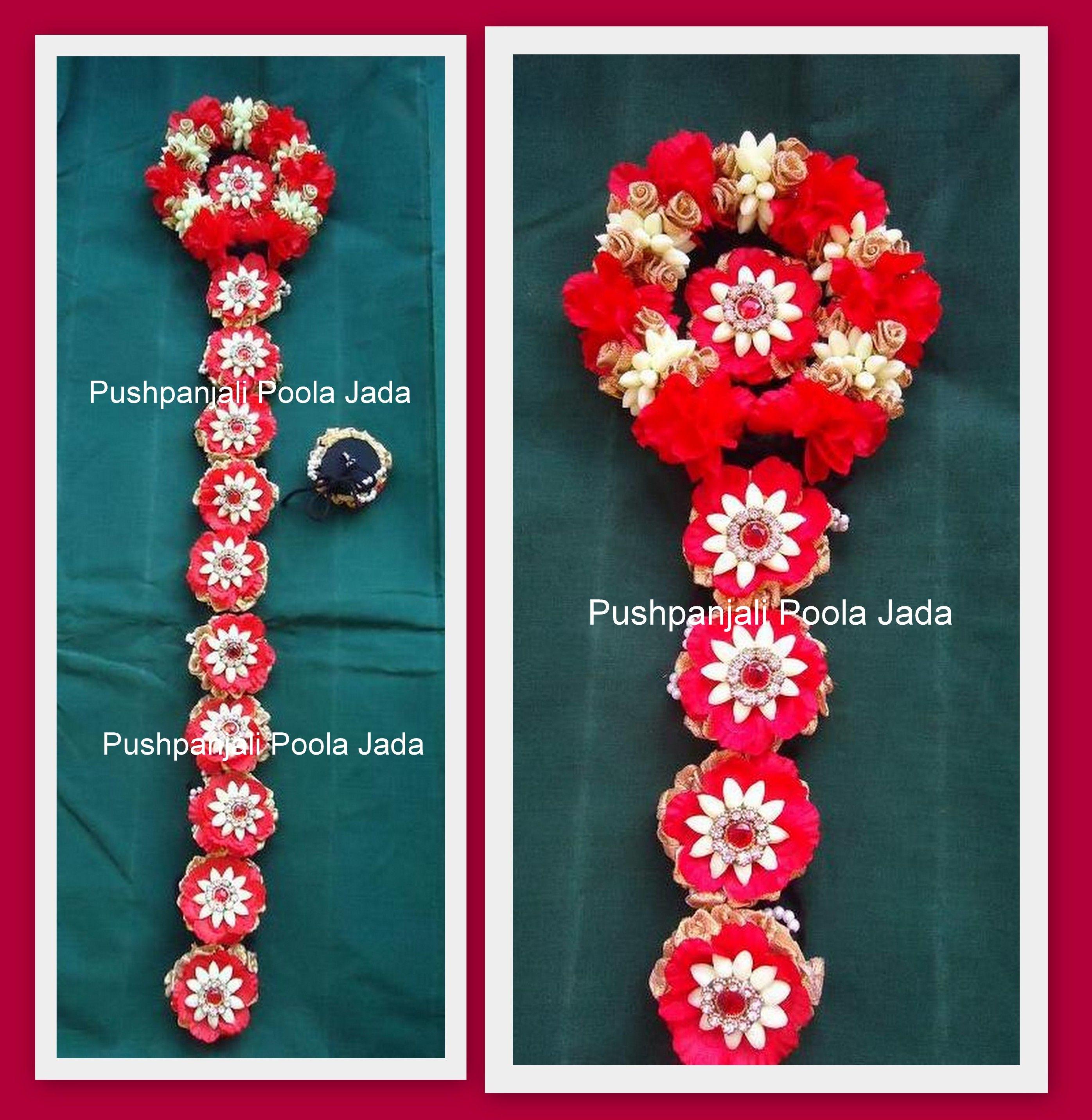 Artificial Jada Billalu Made With Artificial Red Flowers Artificial