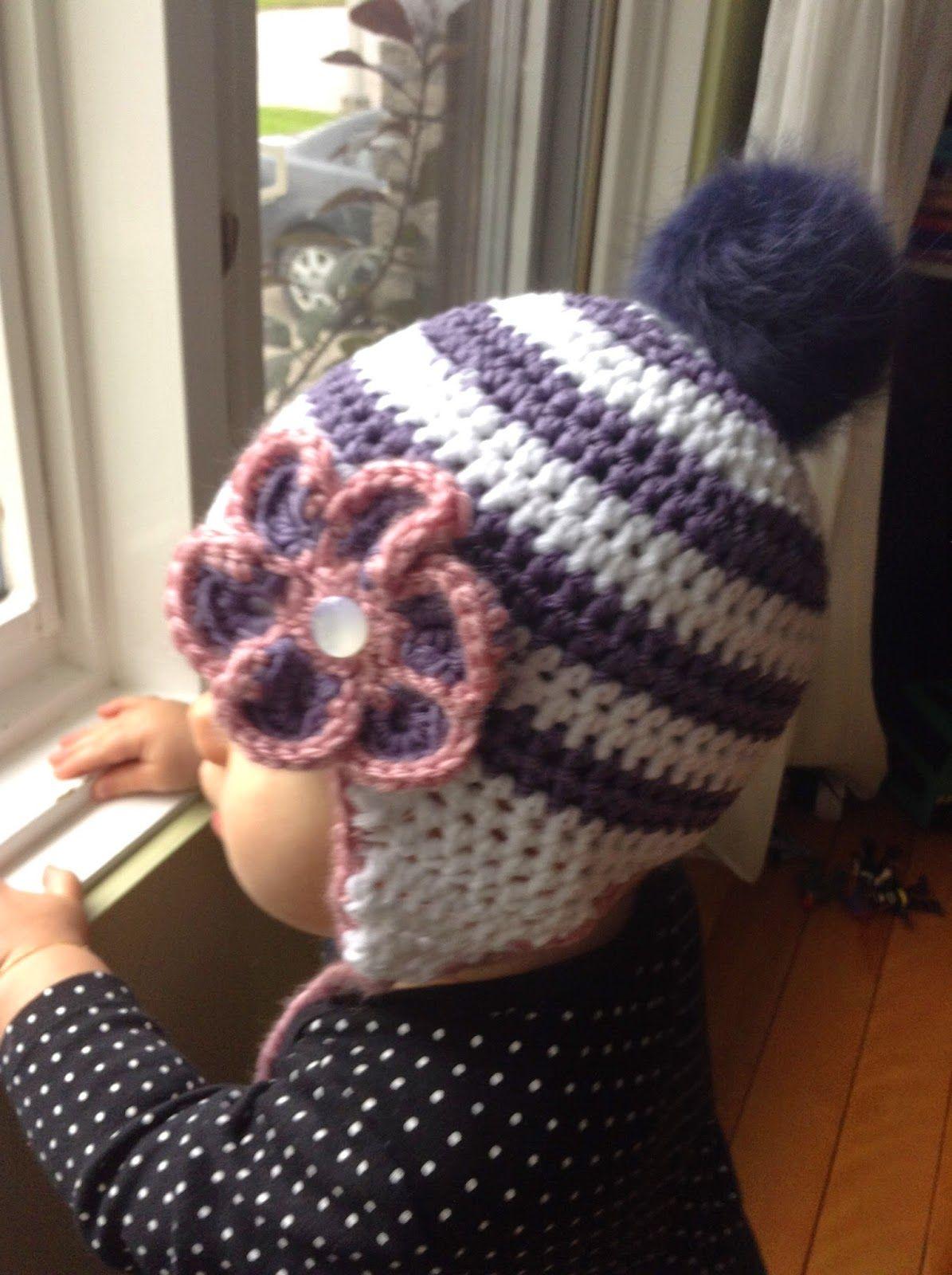 d58f4a8646a2 Patron gratuit Bonnet pour bébé 12-18 mois   Crochet   Crochet ...