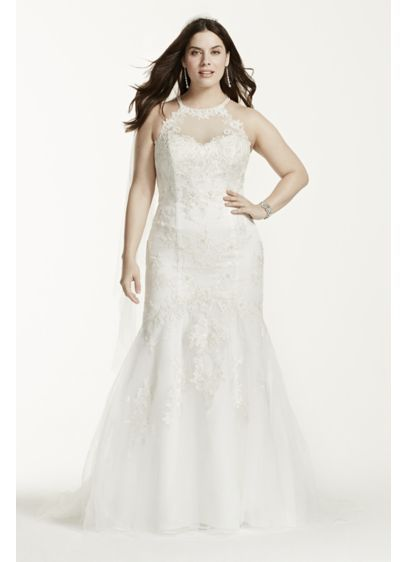 Delicately Designed Jewel Collection Gown Will Create A Stylish And  One Of A Kind Look For Your Wedding Day! Sleeveless Halter Bodice Features  Illusion ...