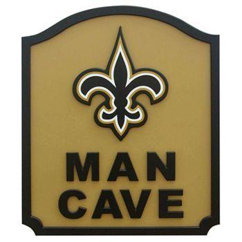New Orleans Saints Furniture   New Orleans Saints Man Cave Shield Wall Art