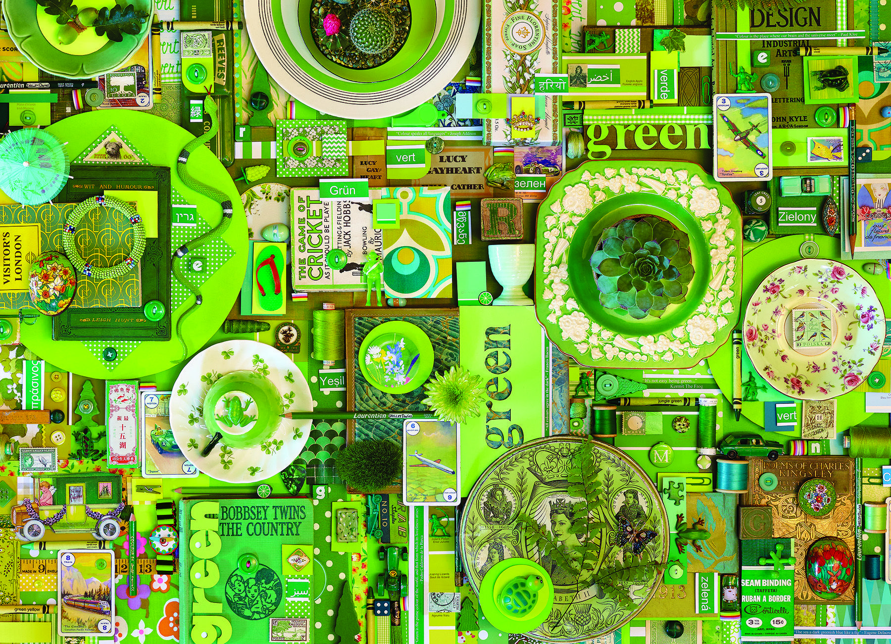 Green jigsaw puzzles rainbow project 1000 piece jigsaw