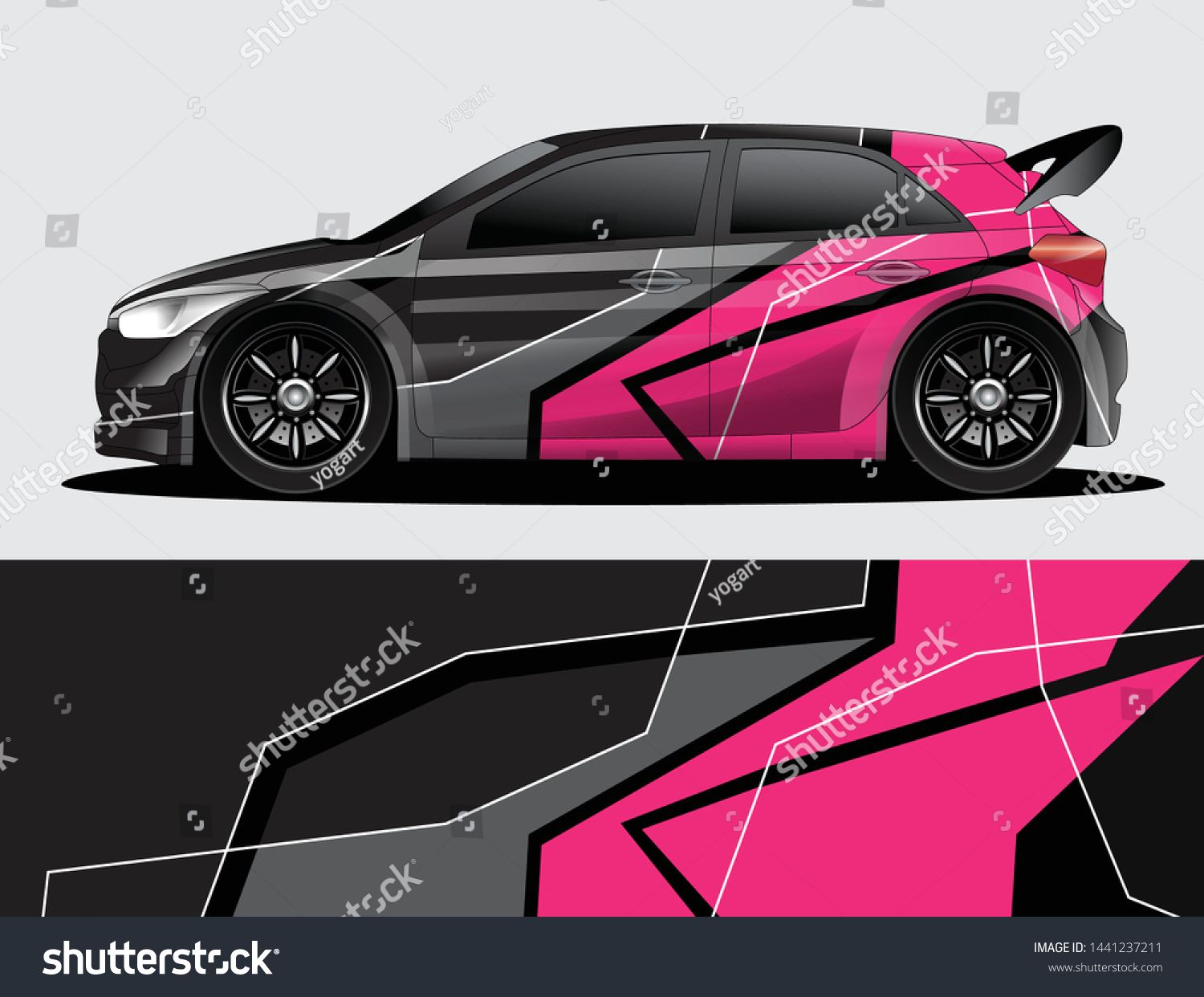 Rally Car Decal Graphic Wrap Vector Abstract Background Rally Car Car Graphics Decals Car Decals [ 1242 x 1500 Pixel ]