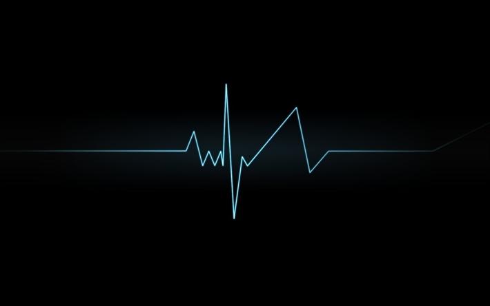 Download Wallpapers Cardiogram Line Dark Background Besthqwallpapers Com Phone Wallpaper Design Dark Backgrounds In A Heartbeat
