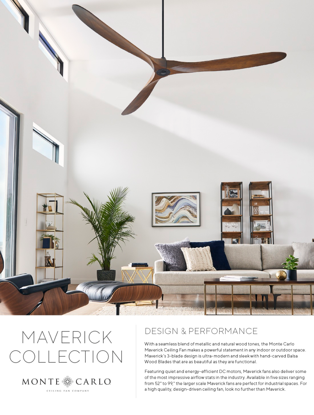 Monte Carlo Maverick 60 In Indoor Outdoor Matte Black Ceiling Fan With Dark Walnut Blades With Remo In 2020 Living Room Ceiling Fan Living Room Fans Black Ceiling Fan