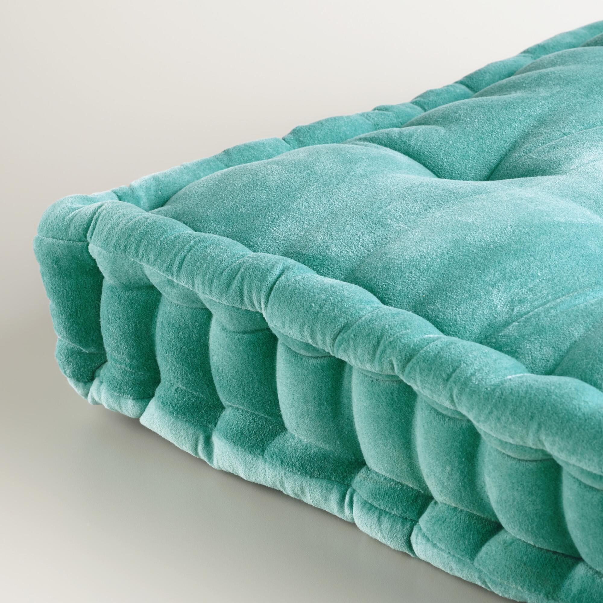 Aqua Velvet Floor Cushion World Market Velvet Everythingggggggg