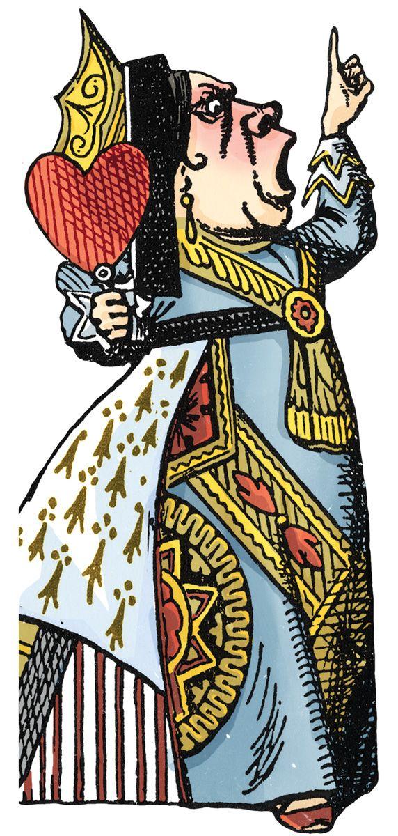 Queen Of Hearts Alice In Wonderland Book