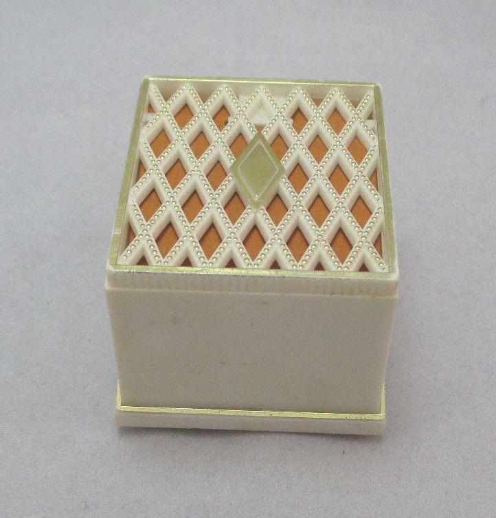 Vintage plastic tiara ring box made in usa Watch jewelry box