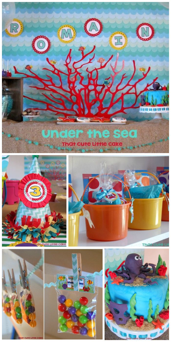 Under The Sea Birthday Under The Sea Birthday Party With