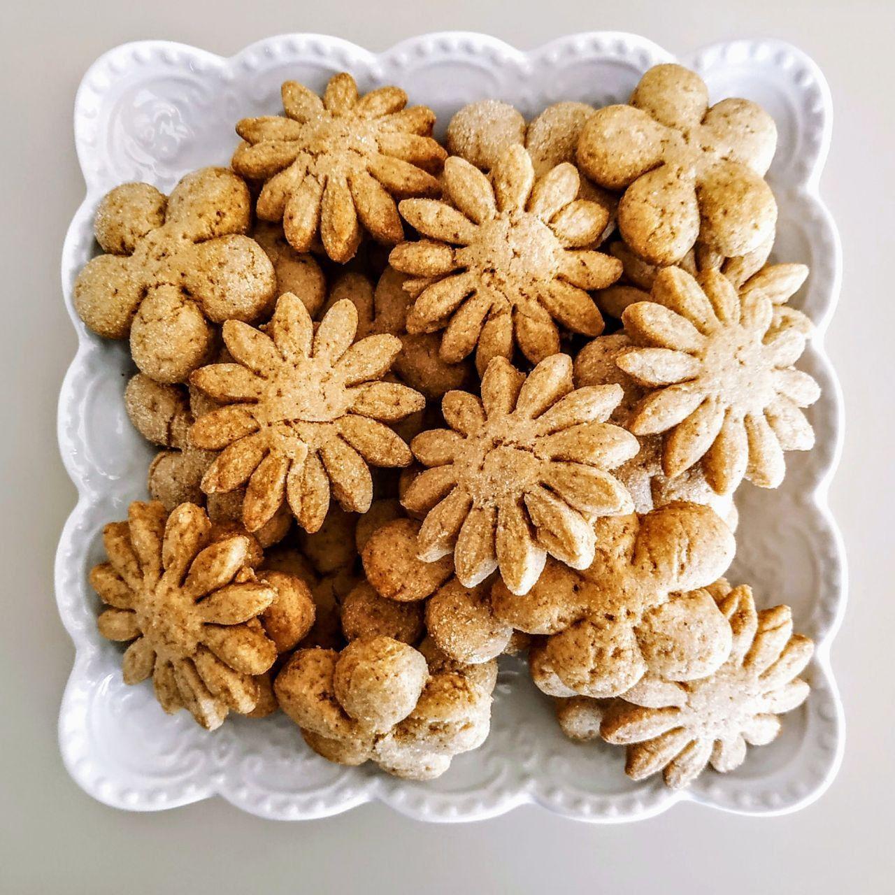 Biscotti all'acqua di cocco con zucchero di canna olio evo