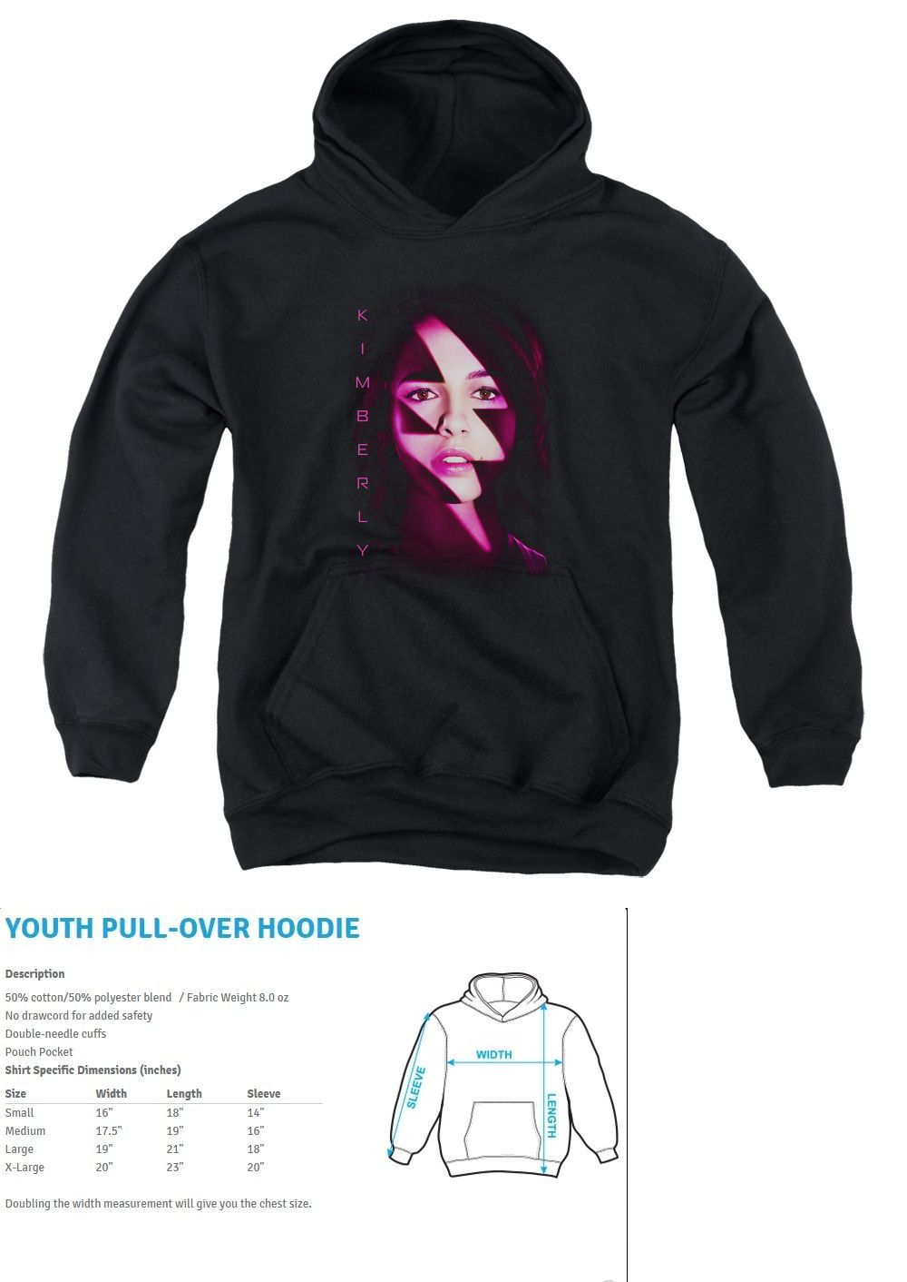 541dcd64 Sweatshirts and Hoodies 155200: Power Rangers Kimberly Bolt Kids Hoodie  Sweatshirt Sm-Xl Boys Girls Sz 6-20 -> BUY IT NOW ONLY: $41.36 on eBay!