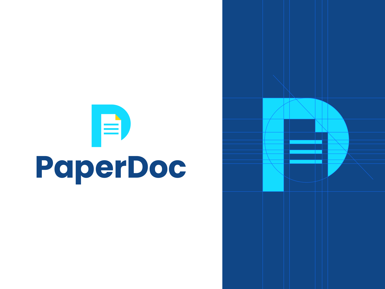 paperdoc in 2020 logo design logo branding identity logos pinterest