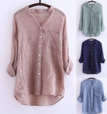 b892086637 Resultado de imagem para camisa linho feminina