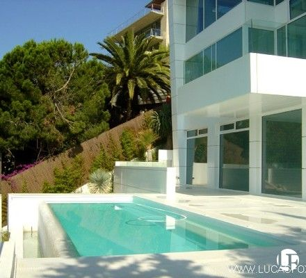 This Recently Built, Three Bedroom Home Overlooks The Fashionable Town Of  Sitges Near Barcelona.