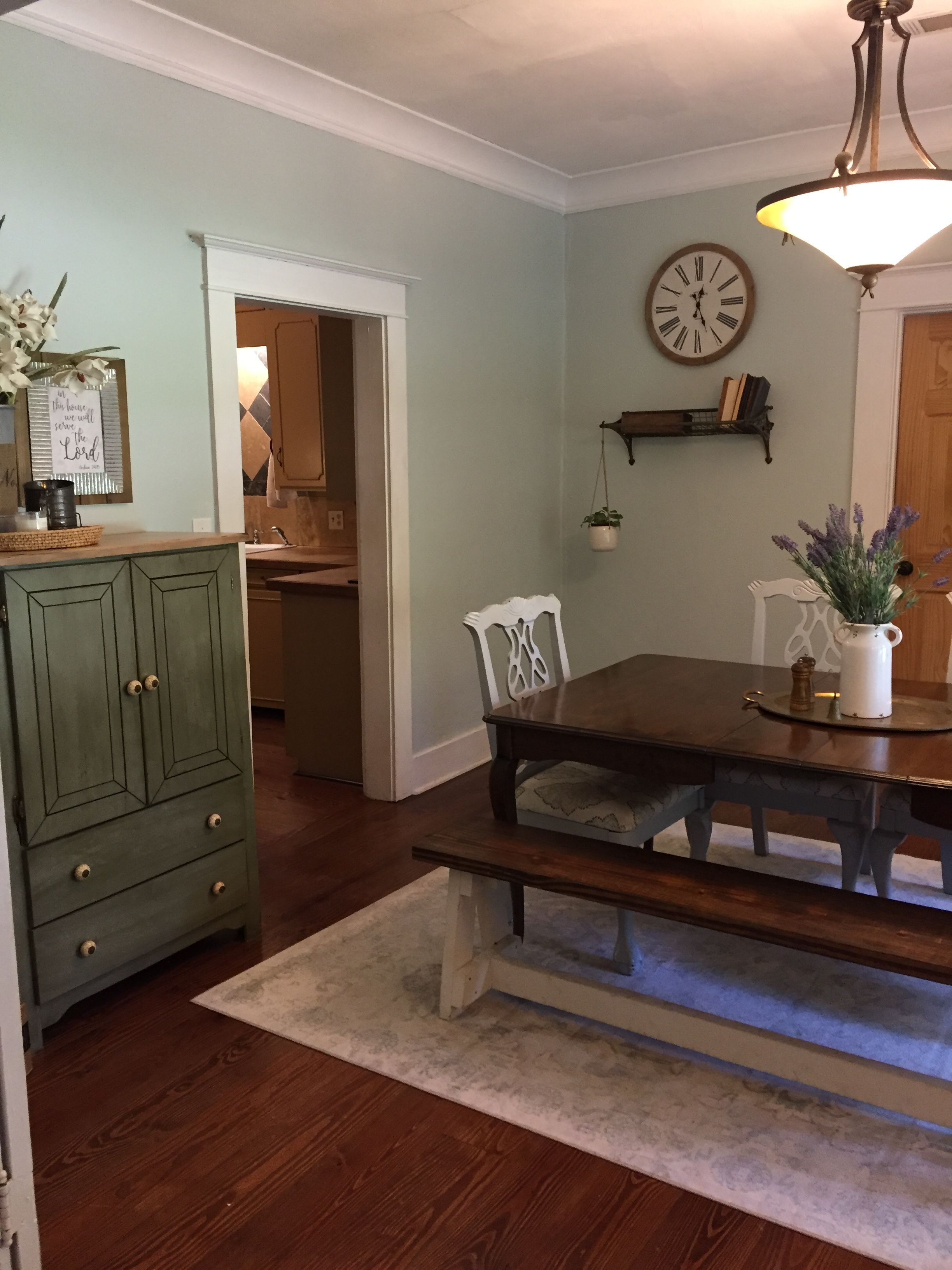 This color! Brook Green Behr Living room green, Living