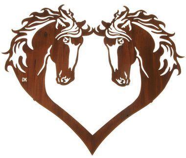 Metal Horse Wall Art horse head heart 28-inch western metal wall art | horse head