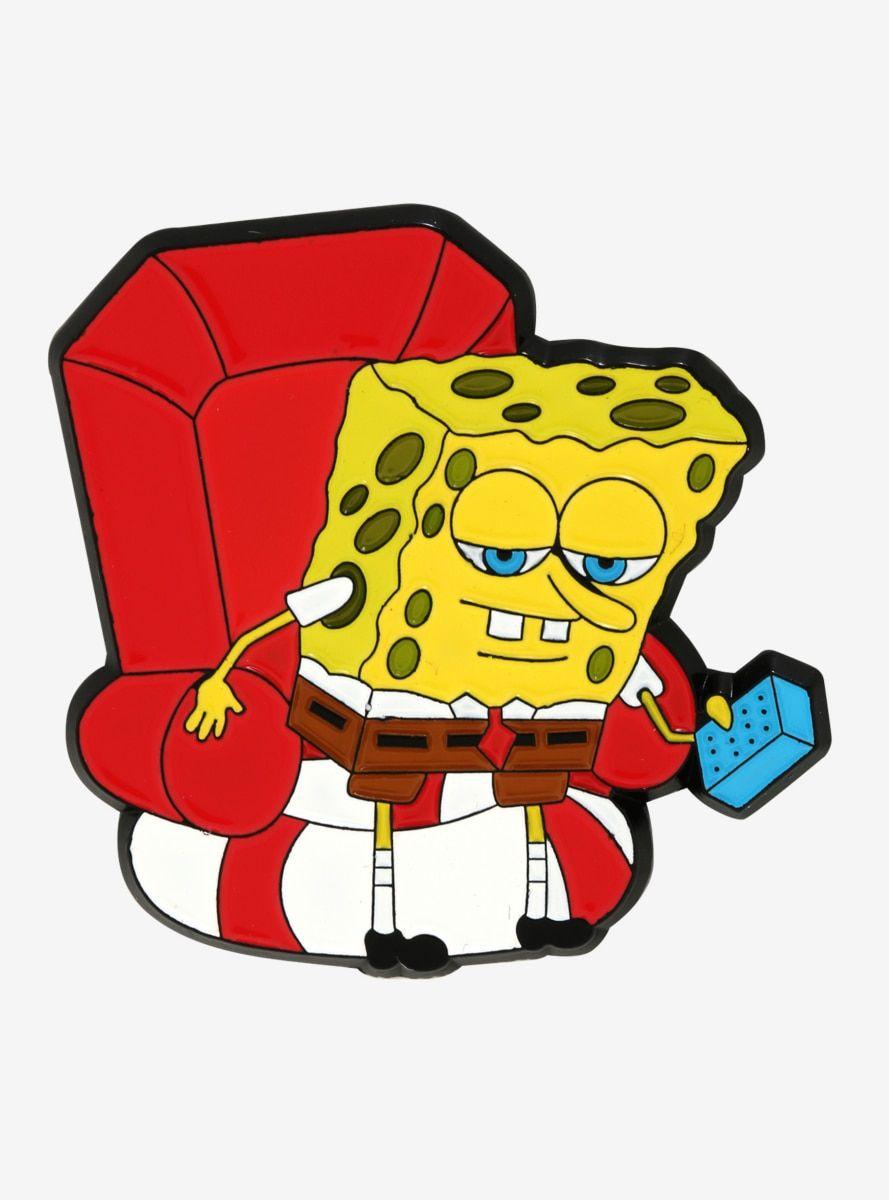 SpongeBob SquarePants Imma Head Out Meme Enamel Pin