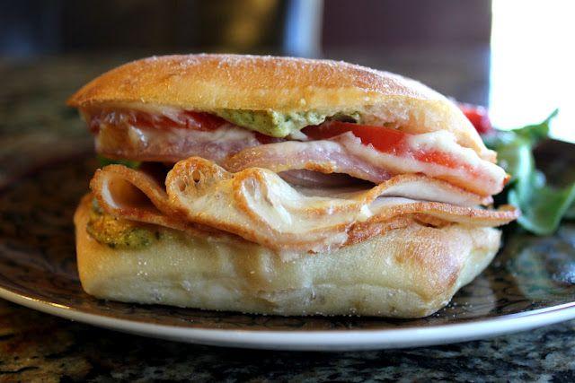 Turkey Provolone Pesto Sandwich Melt