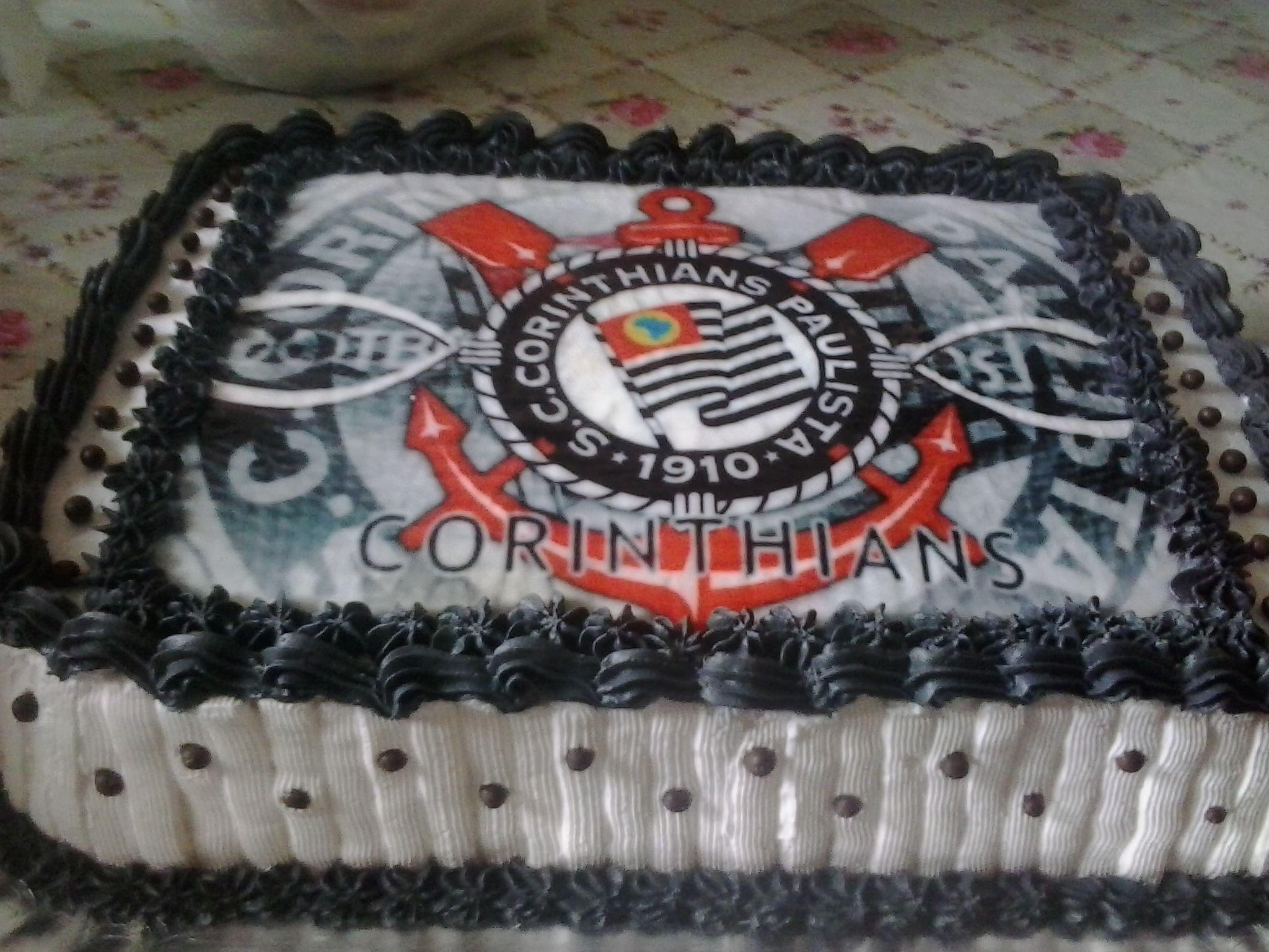 Bolo Do Corinthians Bolo De Aniversario Quadrado Decoracao De