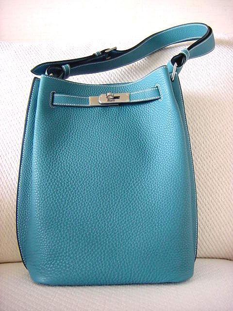 4698abb503e4 Hermes SO KELLY Tote -- Fresh Blue Jean w/Palladium   Hermes Kelly ...