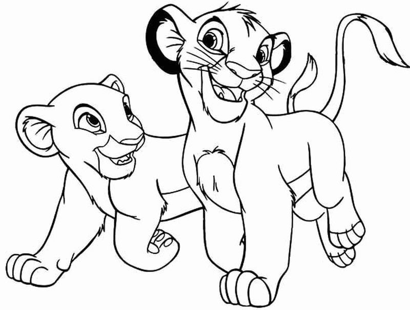 Baby Lion King Coloring Pages Disney Coloring Pages Lion