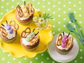 Rezept Schmetterlings-Cupcakes mit Limetten-Frosting #childrenpartyfoods