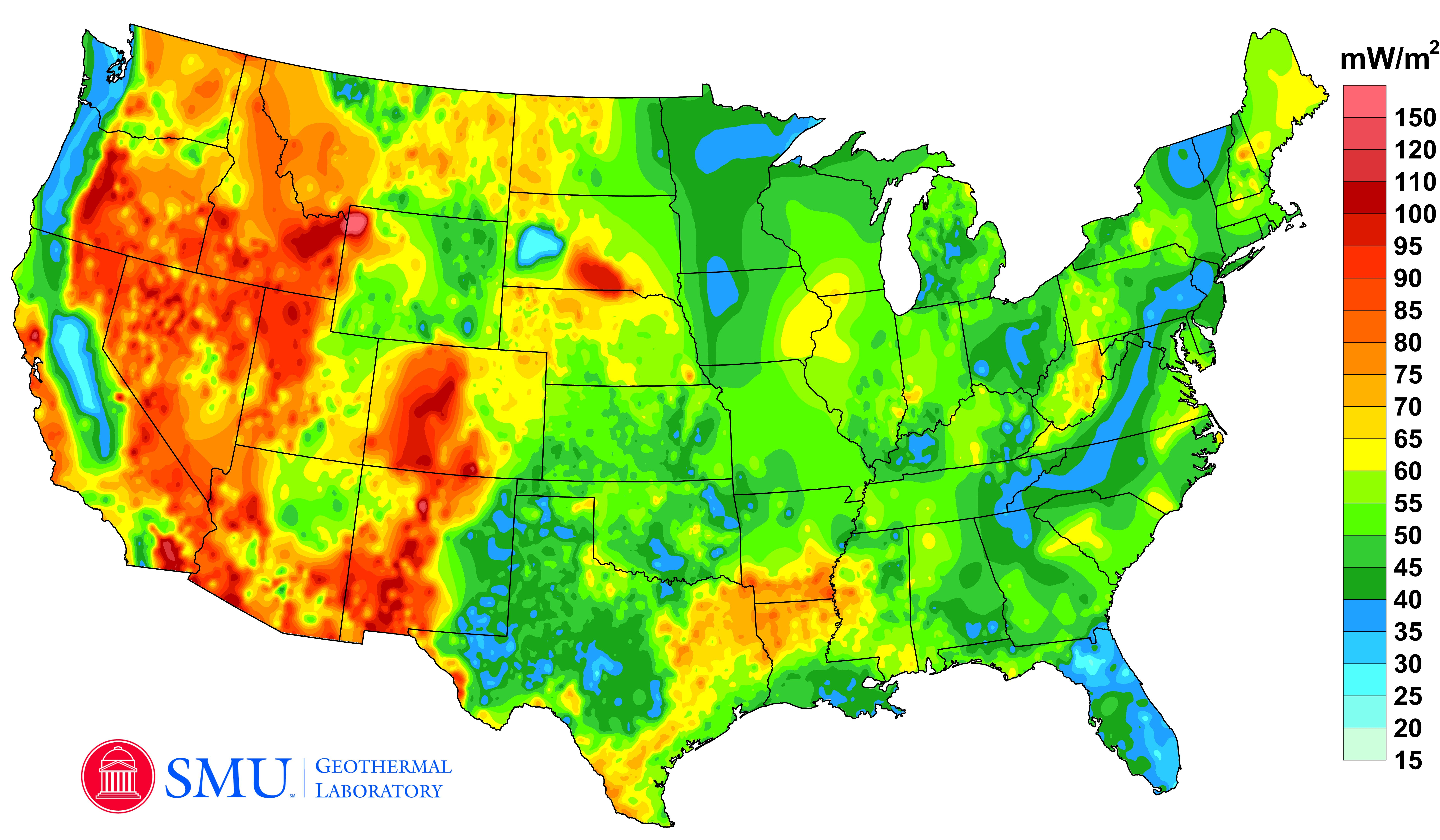 Google Project Maps US Geothermal Energy Potential Renewable - Renewable energy map us