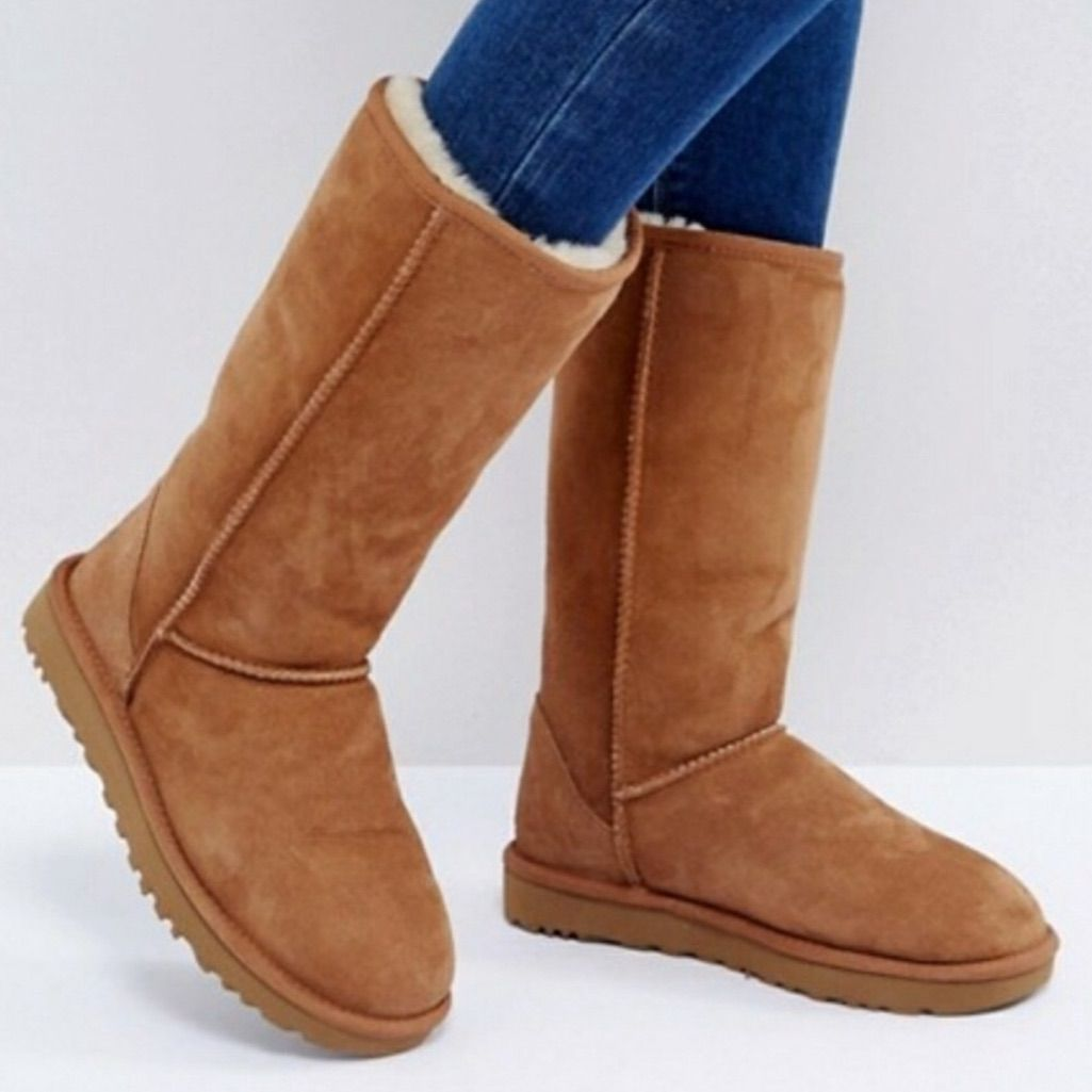 UGG Shoes | Uggs Tall Ii Classic Chestnut Shearling Boots 8