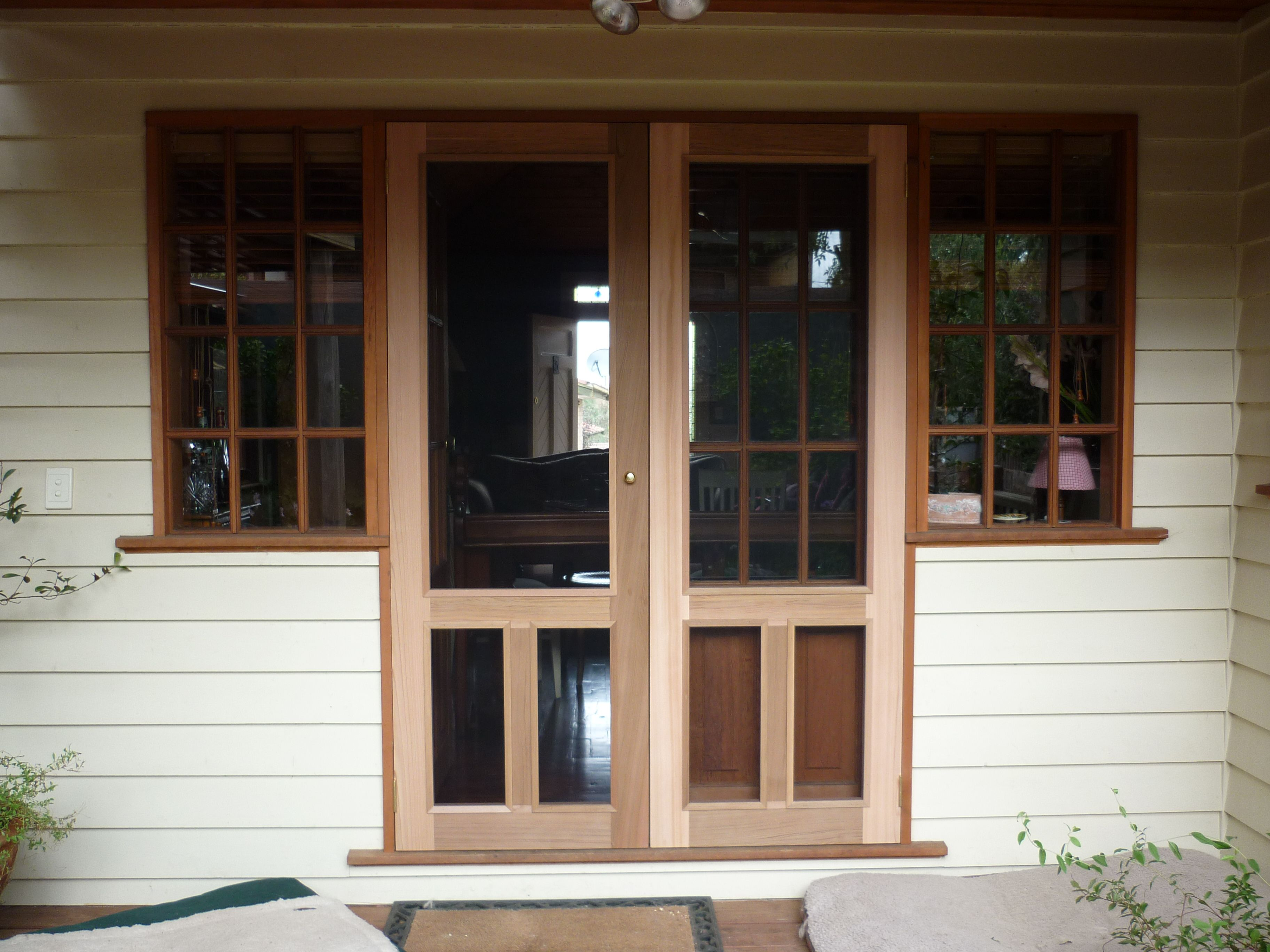 Flyscreen Doors with regard to measurements 3456 X 2304 Wooden Fly Screen Door Designs - The high need for green technology has turned many consumers towar & fly screen to match french doors | New House | Pinterest | Screens ...