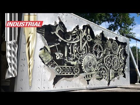 "How To CNC 3D Carve Aluminum & Wood to Create ""Shipwreck"" using CorelDraw, ArtCam and Amana CNC Bits - YouTube"